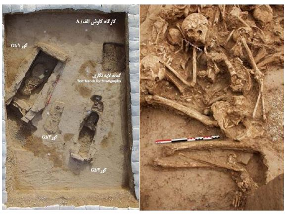 کاوش های باستان شناسی گورستان تل چگاسفلی بهبهان
